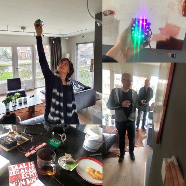Kijk ons eens gaan tijdens onze R&D-middag voor het verbeteren van het gebruik van beacons. Testen, aanpassen, weer testen....