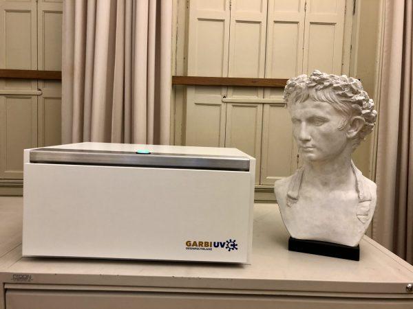 Het Rijksmuseum van Oudheden gebruikt de Garbi UV-C voor hun educatieve materialen, zoals échte scherven en vilten materialen.